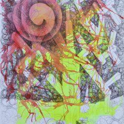 FLAMBOYAN CARIBEÑO painting
