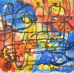 Botellones transversos painting