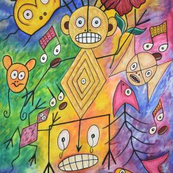 Areíto painting