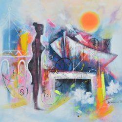 Memorias de la inmigrante painting