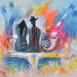 Memorias del sueño painting