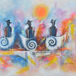 Soñadores del-tiempo painting