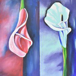 Lirios Cala painting