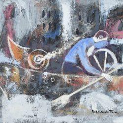 Viajero solitario painting