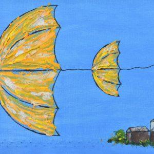 Acompañados III painting