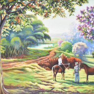 Una tarde en el campo painting