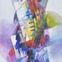 Musical IV painting