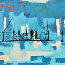 En compañía painting