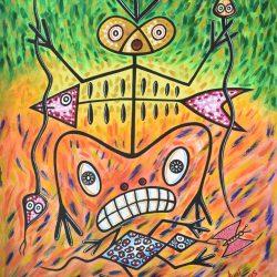 El sacerdote de la magía ignea painting
