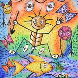 La pesca del taíno painting