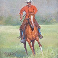 Galope en la pradera painting