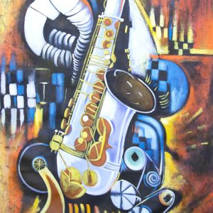 Abstract Trumpet painting