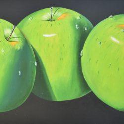 Manzanas verdes painting