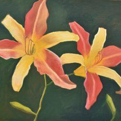 Lirios painting