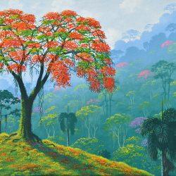 Flamboyán painting