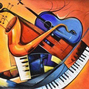 Instrumento musical II painting