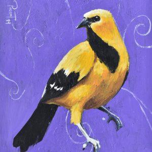 Ave amarilla painting