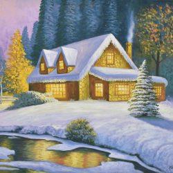 Paisaje de invierno painting