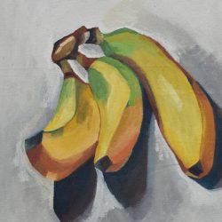 Bodegón de bananos painting
