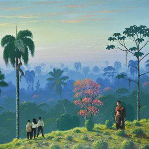 Diálogo de amanecer painting