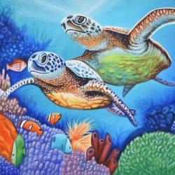 Tortugas Acuáticas painting
