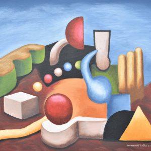 Atardecer geométrico 2 painting