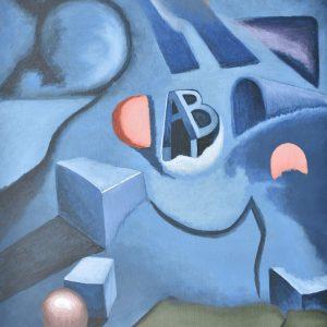 Geometría azul painting