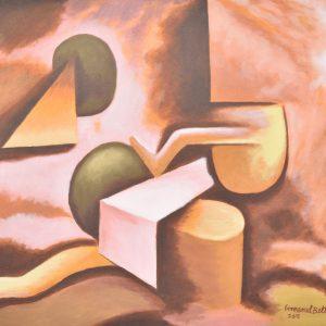Raíz geométrica painting