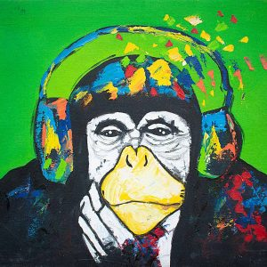 Chimpin' Ain't Easy Painting