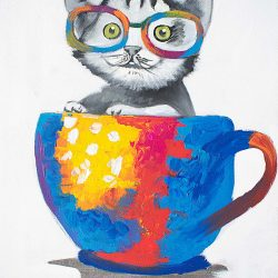 Cup O' Cat Painting