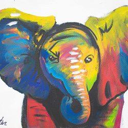Ivory Elephant Painting