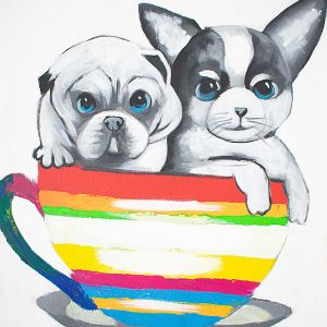 Teacup Pups Painting