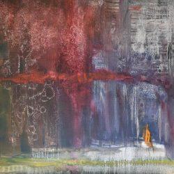 Tormenta en la rivera painting