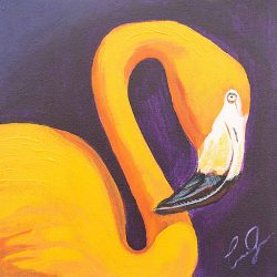 Flamingo 1 painting