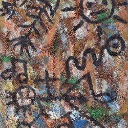 Taíno muerto en el nombre de la cruz painting