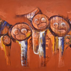 Los Caciques painting