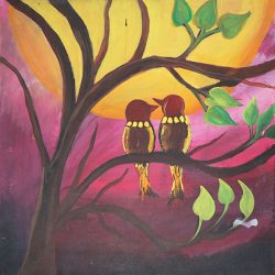 Love Birds 2 Painting