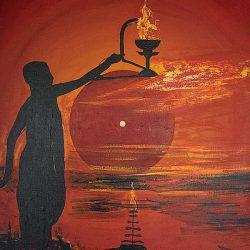 Morning Prayer Banaras painting