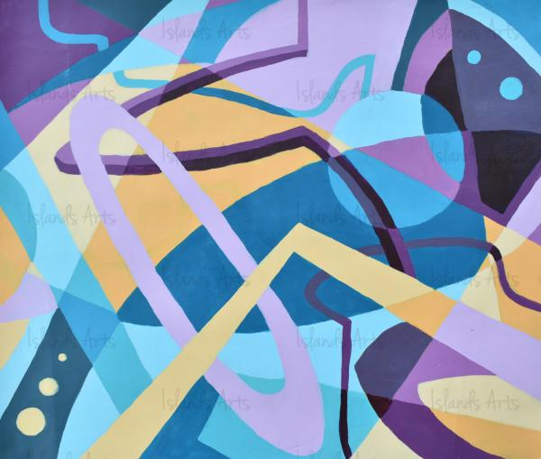 Dancing with shapes painting