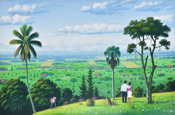 El valle de La Vega painting