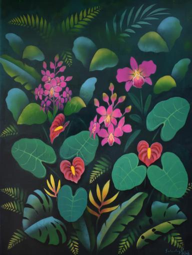 Interior de la selva painting