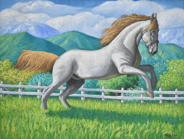 Relincheo del caballo painting