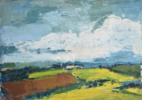 Paisaje impresionista painting