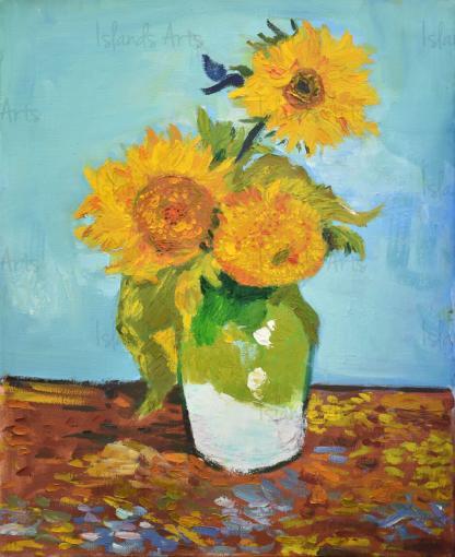 Girasoles (Van-Gogh) painting