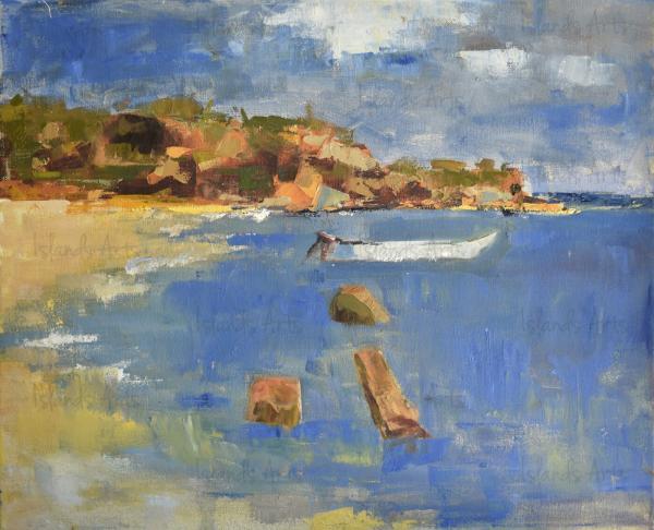 Bahía de las Águilas painting
