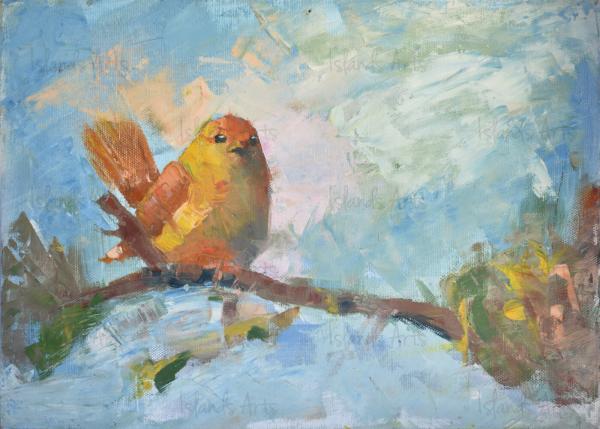 Ave y su nido painting