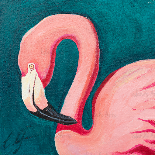 Flamingo 2 painting
