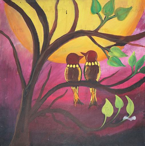 Love Birds 2 Painting