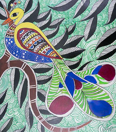 Peacock Madhubani Painting