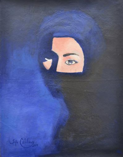 Between Blue Shadows painting